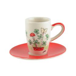 Mila Espressotasse Mila Keramik Espresso-Tasse mit Untere Viel Glück