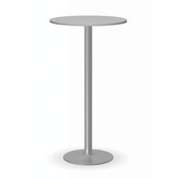 Cocktailtisch olympo ii, dm. 600 mm, graues fußgestell, graue platte