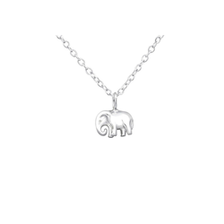 Monkimau Kette mit Anhänger Kinder Kette Elefanten Anhänger Halskette 925 (mit Anhänger)