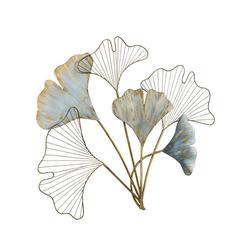 Wanddeko in Ginkgoblätter-Optik blau