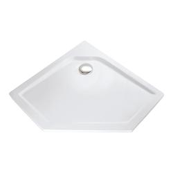 HSK Fünfeck-Duschbecken, super-flach 900 x 900 mm, 450/636/450,… weiß