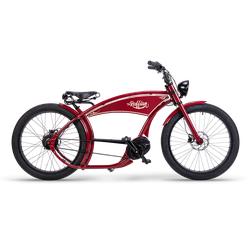 Ruff Cycles Ruffian Elektrische Chopper Bike Bosch middenmotor 300Wh Rood