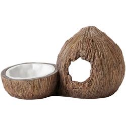 Exo Terra Terrariendeko EX Kokosnuss, Höhle und Wassernapf