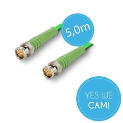 BNC Kabel 5,0 Meter - HDSDI - 6G-SDI tauglich
