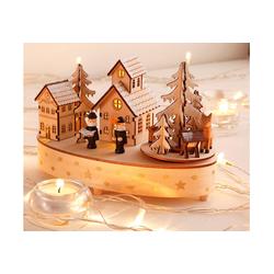 Home affaire Spieluhr Weihnachtsdorf, mit Musikwerk beige Baby Spieluhren Kleinkind