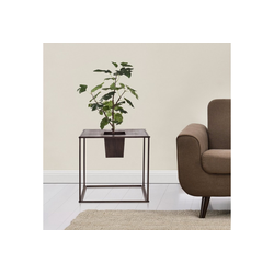 casa.pro Pflanzkübel (2 Stück), Pflanzkübel Edelrost Würfelform Blumenkübel Blumentopf Pflanzen Indoor 45 cm x 46 cm x 45 cm