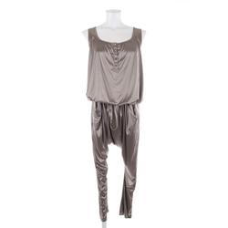 Stefanel Damen Jumpsuit dunkelbeige, Größe XS, 4921394