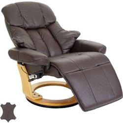 MCA Relaxsessel Windsor 2, Fernsehsessel Sessel, Echtleder 150kg belastbar ~ braun, naturbraun