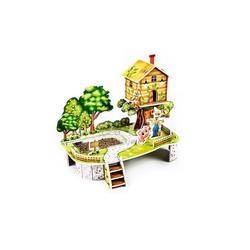 Fun4Kids Puzzle 3D Puzzle Mein Obstbaum mit einem echten Beet, 35 Puzzleteile