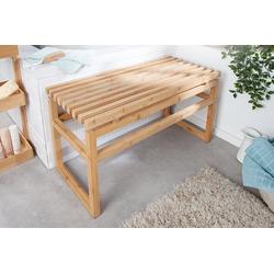 riess-ambiente Sitzbank LAGOON SPA 74cm natur (1-St), Massivholz · Badezimmer · Holzbank · Badezimmermöbel · Bambus
