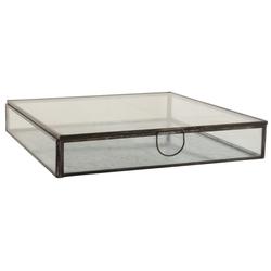 Ib Laursen Holzkiste Ib Laursen - Serviettenhalter (0824-25) Glasbox Glasschachtel Serviettenspender