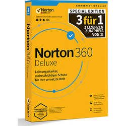 PC Norton 360 Deluxe 25Gb 1 User - 3 For 1 - 12 M.