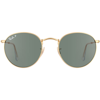 Ray Ban Round Metal RB3447 112/58 50-21 matte gold/polarized green classic