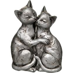 Dekofigur »Katzen-Paar«, Dekofiguren, 16273957-0 silberfarben silberfarben