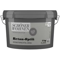SCHÖNER WOHNEN FARBE Spachtelmasse Betonoptik Effektspachtel grau, 1 kg grau