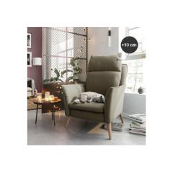 PLACE TO BE. Relaxsessel, Moderner hochwertiger Relaxsessel Fernsehsessel mit Funktion Insideout mit XXL Rücken für große Personen Sand Buche beige
