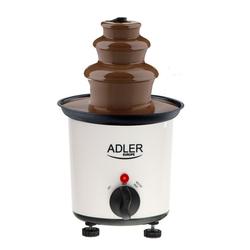 Adler Schokoladenbrunnen AD 4487, Schokobrunnen, 30 Watt, 200 ml, 80 °C, 10x Plastikpickel, Heizungs-Kontrollleuchte, Milchschokolade, dunkle und weiße Schokolade, weiß