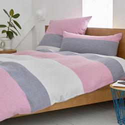 elegante Halbleinen Bettwäsche Beat pink