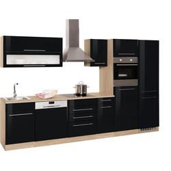 HELD MÖBEL Küchenzeile Eton, ohne E-Geräte, Breite 330 cm schwarz