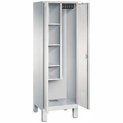 C+P Raumpflege-Geräteschrank, 2 Abteil, b60xt50xh185cm