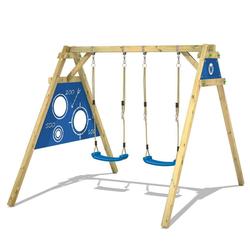 Wickey Doppelschaukel Schaukelgestell Smart Score - Schaukel, Schaukelgerüst, Kinderschaukel, Holzschaukel blau