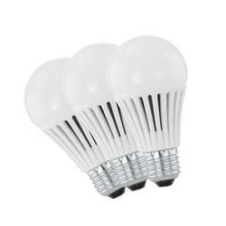 3er Set LED Leuchtmittel Leuchte E27 Fassung A60 7 Watt 3000 K warmweiß