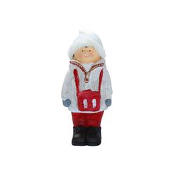 Dekofigur Junge mit Strickmütze 40 cm Keramikfigur Knabe