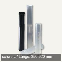 Versandrolle Drehpack Ø 65 mm, Länge 350-620 mm verstellbar, PE, schwarz