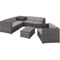 Tectake Pisa Lounge-Set grau