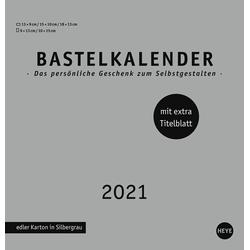 Bastelkalender 2021 silber mittel