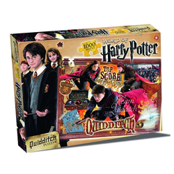 Winning Moves Steckpuzzle World of Harry Potter Puzzle - Quidditch 1000 Teile (englisch), 1000 Puzzleteile