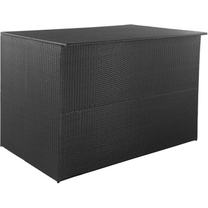 vidaXL Gartenbox Schwarz 150x100x100 cm Poly Rattan