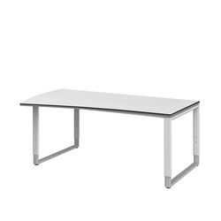 PC Schreibtisch in Weiß höhenverstellbar