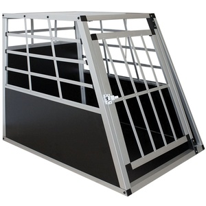 Juskys Alu Hundetransportbox L - 91×65×69 cm verschließbar & pflegeleicht - Hundebox für Hunde