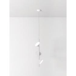 Stilvolle dreiflammige LED-Hängeleuchte Orchid Axo Light weiß