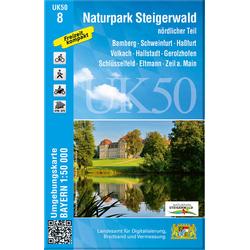 Naturpark Steigerwald nördlicher Teil 1 : 50 000 (UK50-8)