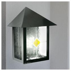 etc-shop LED Wandleuchte, LED 7 Watt Edelstahl Wand Leuchte Außen Beleuchtung Glas Tiffany Dekor Lampe