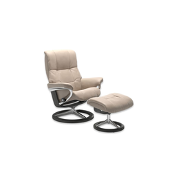 Stressless Ruhesessel mit Hocker Mayfair in Cori vanilla, Gestell Signature Grau