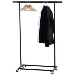 CLP Kleiderstange Dewas, Kleiderstange auf Rollen schwarz