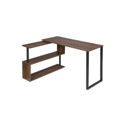 Woltu Schreibtisch, Schreibtisch Arbeitstisch mit Ablagen MDF braun