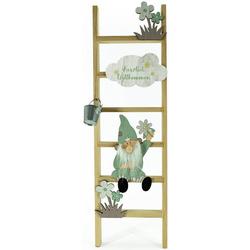 NOOR LIVING Dekoleiter Zwerge (1 Stück), Standdeko für den Eingangsbereich, Höhe ca. 60 cm natur