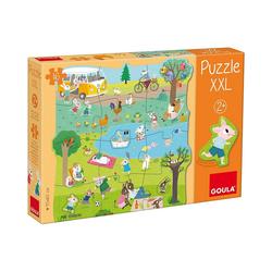 Goula Puzzle XXL-Puzzle 16 Teile - Ein Tag auf dem Land, Puzzleteile