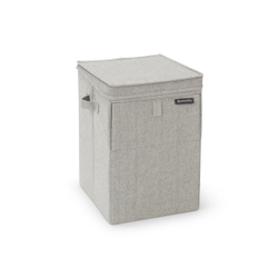 Brabantia Stapelbare Wäschebox, 35 Liter, Wäschesammler ideal zum Sortieren Ihrer Wäsche, Farbe: Grey