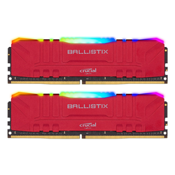 Crucial Ballistix RGB Rot 16GB Kit (2x8GB) DDR4-3600 CL16 Gaming-Arbeitsspeicher