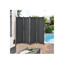 Pro-tec Standmarkise Outdoor Trennwand 170 x 215cm Paravent Grau grau