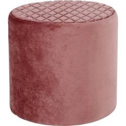 Hocker Ejstrup Polsterhocker Sitzhocker Fußhocker Wohnzimmer Velours rosa