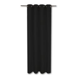 Vorhang, Bestlivings, Ösen (1 Stück), Thermogardine, blickdicht 140x245cm, hitzeabweisend und wärmeisolierend schwarz