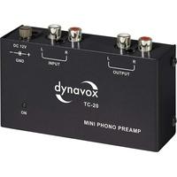 DynaVox TC-20 Phonovorverstärker kompaktes Metall-Gehäuse, für Plattenspieler mit MM-Abtast-Systemen, schwarz