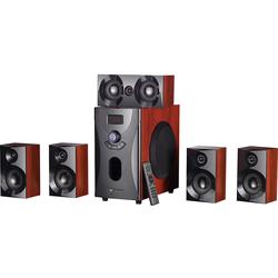 Home-Theater Surround-Sound-System 5.1, 160 Watt, MP3/Radio, Holzoptik