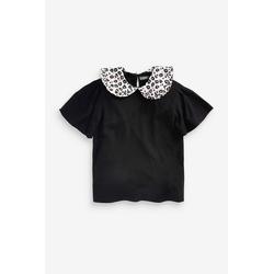 Next T-Shirt Leopardenbluse mit Kragen 104